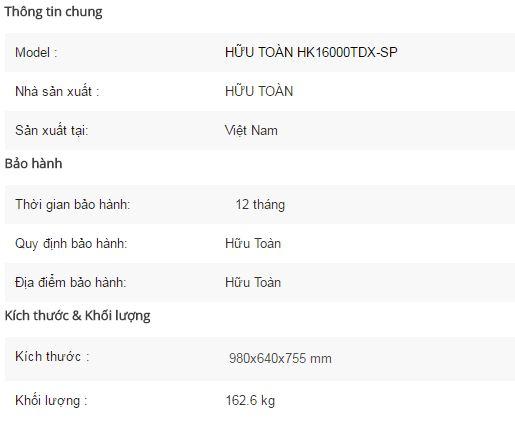 Máy phát điện Hữu Toàn HK16000TDX-SP-1