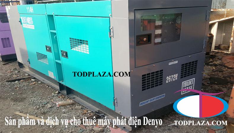 Sản phẩm và dịch vụ cho thuê máy phát điện Denyo