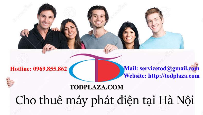 TODPlaza cho thuê máy phát điện ở Hà Nội
