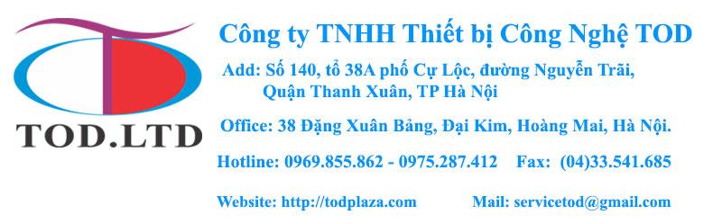 Thông tin liên hệ công ty TNHH Thiết bị Công nghệ TOD