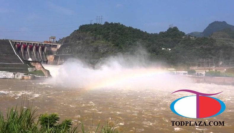 Hồ thủy điện Hòa bình thiếu nước bởi hiện tượng El nino